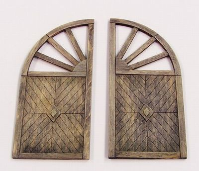 512-PL431 35;Wooden gate - round 431